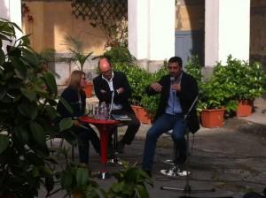 Andrea Bajani dialoga con Laurent Mauvigner nel Chiostro