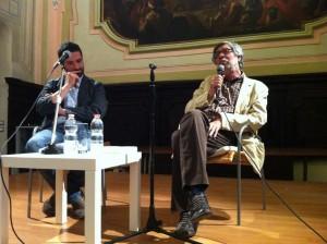 Piero Sorrentino dialoga con Domenico Starnone nel Refettorio di San Paolo